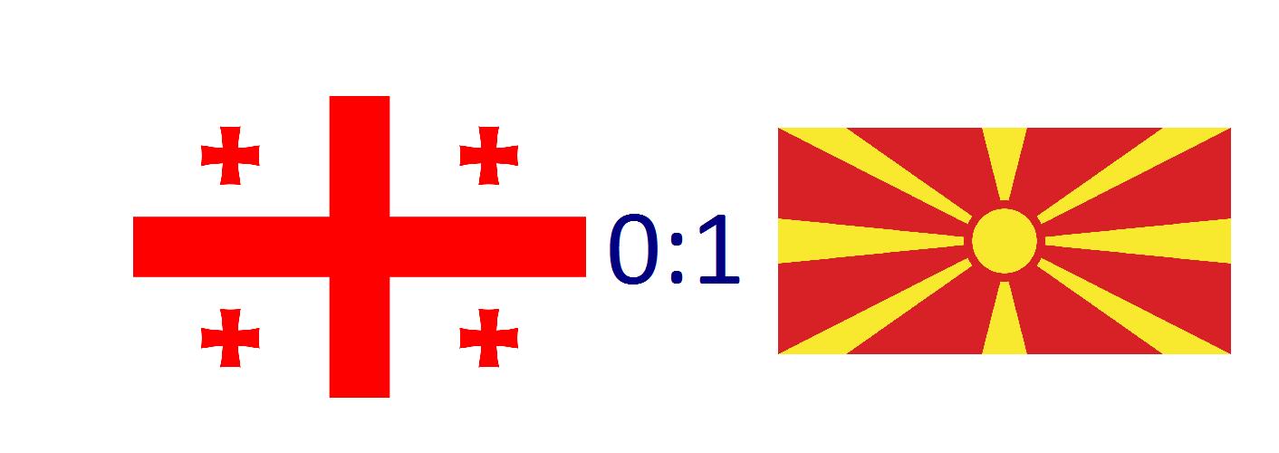Georgia 0:1 North Macedonia